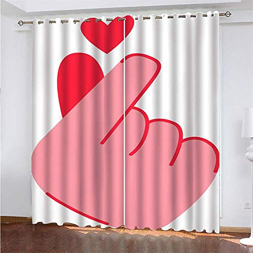 2 Pieces Of Polyester Blackout Curtains Suitable For Shading Cloth For Bedroom, Kitchen And Balcony Effective Privacy Curtain Fashion Personality