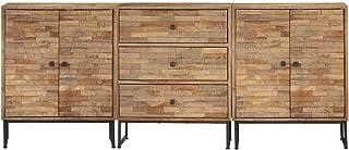 LINWXONGQP Dimensions (Chaque pièce) : 60 x 30 x 75 cm (l x P x H) Buffets & bahuts Ensemble de buffets 3 pcs Bois de Teck...