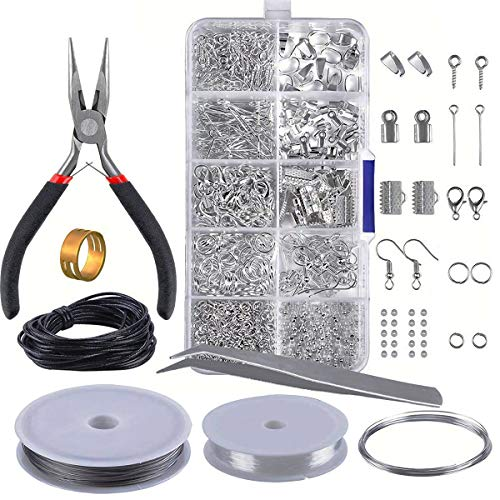 Jewelry Making Kit,Handcrafted Jewellery Accessory Kit with Pliers Tools for DIY Crafter Beginners,Jewellery Findings Supplies