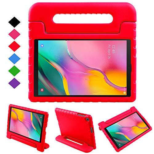 NEWSTYLE Funda para Samsung Galaxy Tab A 10.1 2019,Ligero y Super Protective Funda diseñar Especialmente para los niños para Galaxy Tab A 10.1 2019 SM-T510/ T515 (Rojo)