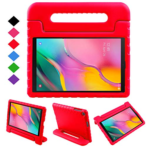 NEWSTYLE Case for Samsung Galaxy Tab A 10.1 2019,Kids Shock Proof Convertible Handle Light Weight Super Protective Stand Cover Case for Galaxy Tab A 10.1 inch SM-T510/SM-T515 2019 Tablet (Red)