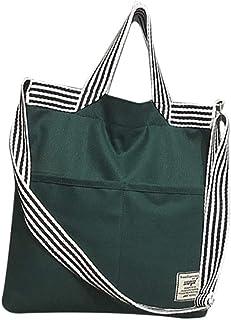Bageek Womens Shoulder Bag Crossbody Bag Fashion Stripe Canvas Tote Handbag