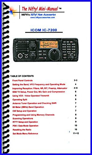 Icom IC-7200 Mini-Manual by Nifty Accessories