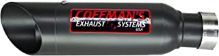Coffman's Shorty Slip On Exhaust Muffler for Honda CBR500R CBR 500-R (2013-2019) Sportbike with Black Tip