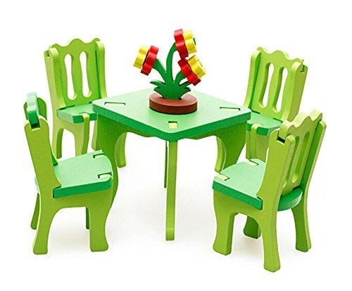 Enfants Beau Jouer Maison Jouets en Bois Assemblage Meubles Set Jouets