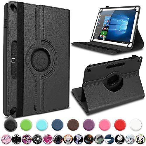 UC-Express Tablet Hülle für Lenovo Tab10 TB-X103F Schutzhülle 10,1 Zoll 360 drehbar, Farbe:Schwarz