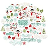 Die Cuts & Paper Set - Winter Wonderland - for Christmas - by Miss Kate Cuttables - 16 Single - Sided 12'x12' Premium Specialty Paper Sheets & Over 60 Coordinating Die Cuts