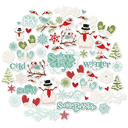 Paper Die Cuts - Winter Wonderland - for Christmas - Over 60 Cardstock Scrapbook Die Cuts - by Miss Kate Cuttables