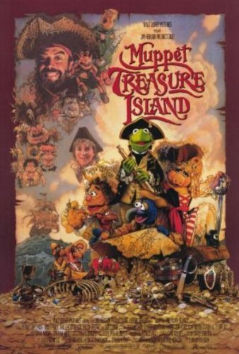 The Muppets Treasure Island Pirates Movie Poster 27 x 40 Inches Jim Henson Productions
