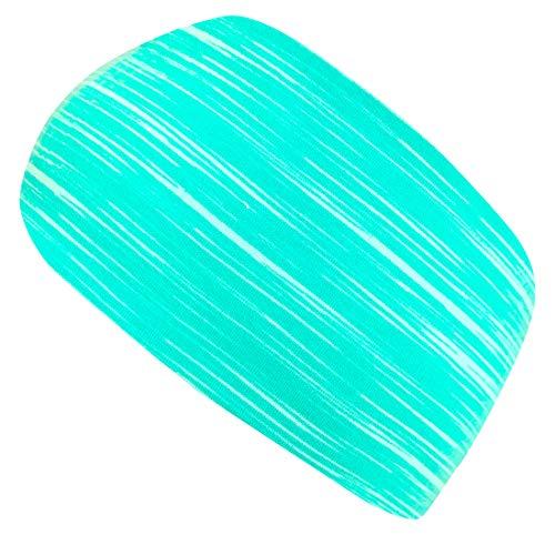 Wollhuhn ÖKO Damen/Mädchen Zauberhaftes Elastisches LINES Haarband/Stirnband Mint 20203006