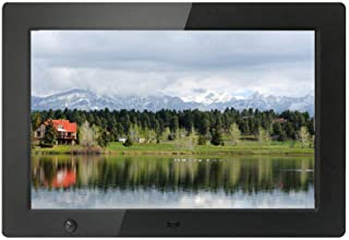 デジタルフォトフレーム10.1インチ-1280x800HDIPS画面付き16:10画面画像プレビュー-リモコン付き時計とカレンダーサポートUSB/SDカード、黒