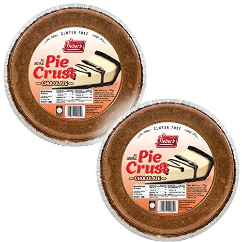 Lieber's Chocolate Pie Crust 6 oz - Gluten-Free - Kosher for Passover (2-Pack)
