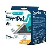 Funhobby Italia Srl Tappetini igienici assorbenti con Carbone Attivo Anti Odore e Anti Macchia per Animali Domestici Pannolini per Cane 60x60 100 pz