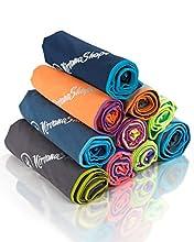 NirvanaShape ® Toalla de Microfibra   14 Colores   8 Dimensiones   Toalla de Viaje Ligera, Absorbente y de Secado Rápido   Toalla de Baño para Viajes   Ideal para Playa, Camping, Yoga y Sauna
