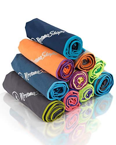 NirvanaShape ® DAS Reise-Handtuch für Backpacker, Urlauber & Traveller aus Microfaser| kompakt, leicht, schnelltrocknend | Mikrofaser-Handtuch, Bade-Handtuch für Travel, Outdoor, Beach, Camping