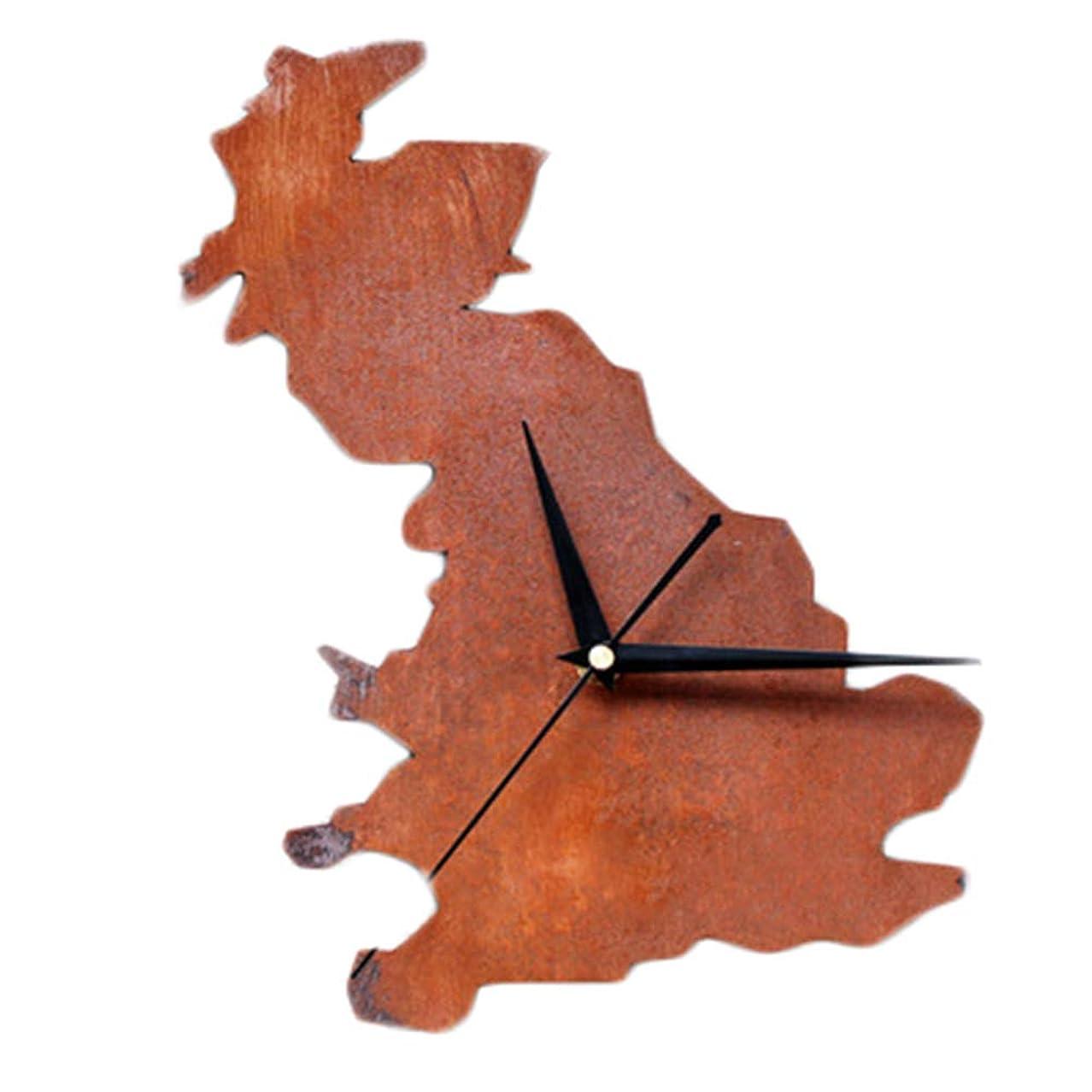 割り当てます瞬時に記憶に残る都市地図壁掛け時計、ヴィンテージ古い/創造的な滑り止めデザイン/アクリル素材/環境/カチカチ音をたてないクリスマスは家族を友達に送る