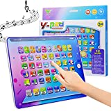 HAPTIME Electronic Learning Pad with 5 Learning Modes, Fun Tablet Learning ABCs, Numbers, Spelling for Kids Toddlers Boys Girls