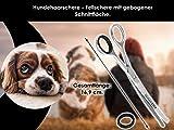 Hundehaarschere Fellschere GEBOGEN mit MIKROVERZAHNUNG - 7
