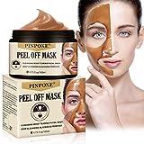 Peel Off Masque, Blackhead Remover Masque, Anti-Point Masque, Point Noir Masque, Pore Cleanser Masque, Dissolvant de tête Noire pour l'huile et l'acné for Oily,Nettoyant en Profondeur Rétrécir Pores