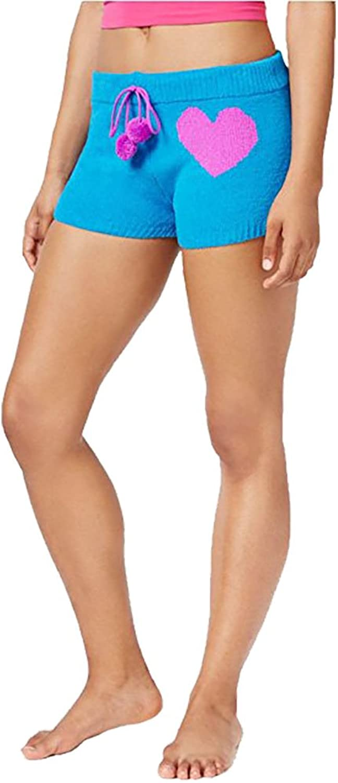 Betsey Johnson Cozy Sweater Shorts, bluee, Small