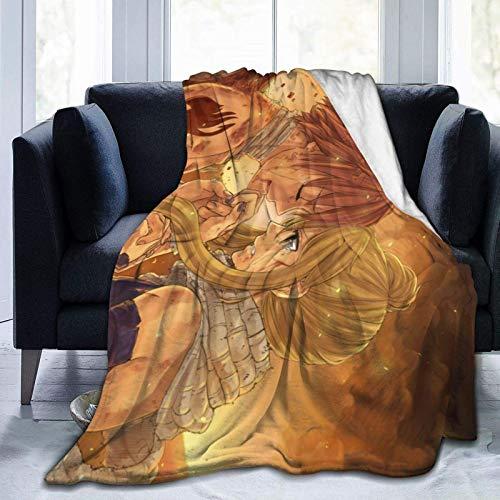Lawenp Mantas de Franela acogedoras Ultra Suaves de Anime FA-iry T-ail, Manta de Cama de Microfibra Ligera para sofá de Microfibra