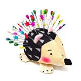 Honbay Cute Hedgehog Shape Pin Cushion Fabric Pin Holder for Sewing or DIY Crafts