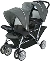 Graco DuoGlider Double Stroller Lightweight Double Stroller with Tandem Seating, Glacier