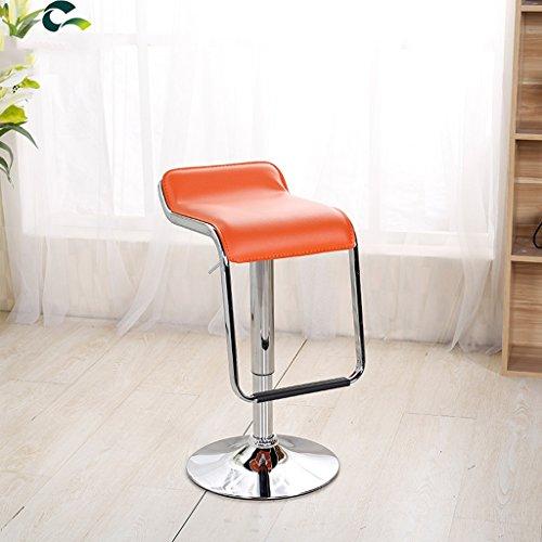 CKH Barhocker Lift Front Barhocker Europäischen Dreh Barhocker Registrierkasse Stuhl Startseite Hochstuhl (Color : Orange)
