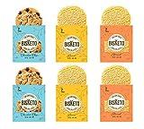 Low Carb Cookies BisKeto - Keto Snacks, Low Net Carbs, No Sugar, Gluten & Grain Free - Box with 6 Packs,12 Cookies (Variety Joy) - Ketogenic Diet Friendly & Healthy Snack Food