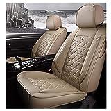 ZMCOV Sostituzione per Coprisedili Auto, Impermeabili Copri Sedili Auto Universale Resistente Traspirante Pelle BMW 1 3 5 7 Series X1 X3 X5 X6,Beige,Standard