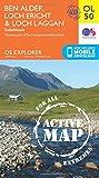 Ben Alder, Loch Ericht & Loch Laggan, Dalwhinnie: OL 50 (OS Explorer Map Active)