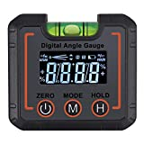AUTOUTLET Digital Angle Finder Magnetic & Level Bubble Vial 4 X 90° Angle Gauge Inclinometer Protractor Upgraded VA LCD Display with Backlight for Saw Blade Woodworking etc