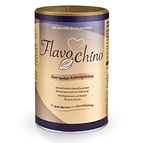 Dr. Jacob's Flavochino, 450 g Dose I zart-herbes Kakaogetränk I ohne Zuckerzusatz I mit Kakaoflavanolen für eine gesunde Durchblutung