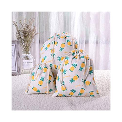 NWXZU Eco Bolsa 1pc Casual algodón de las mujeres con cordón Bolsa de compras reutilizable ecológica plegable de tela de la ropa interior de la bolsa de comestibles ( Color : 2 , Size : 32 x 25cm )