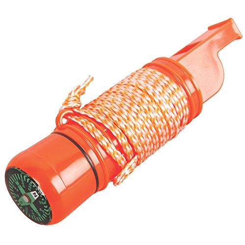 Coleman Company 5-In-1 Survival Whistle, Orange