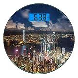 Escala digital de peso corporal de precisión Ronda Paisaje urbano Báscula de...