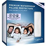UltraPlush Premium Waterproof Pillow Protector - Zippered Pillow Case - 1 Pack - Super Soft and Quiet (Body Size 20 inches x 54 inches)