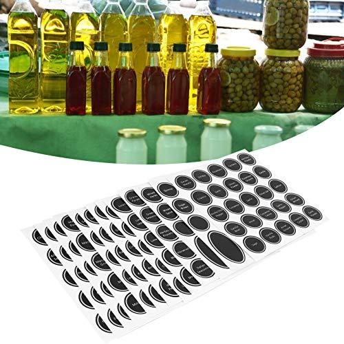 Etiquetas para tarros de especias, materiales de alta calidad Etiquetas impresas fáciles de pegar para cocina para botella de vino