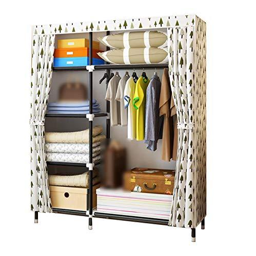 HMEIGUI Textil Plegable Armario portátil para Dormitorio - Armadura de Tela de...