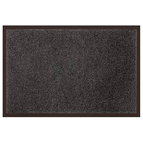 douceur d'intérieur tapis d'entree rectangle 80x120 cm anti-poussiere telio gris