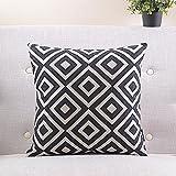 Lumimi Black and White Plaid Cotton?Linen Decorative Pillow Cover (2036 in ?