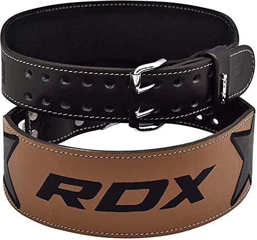 RDX Sollevamento Pesi Cintura Vacchetta Cuoio 4' Palestra Pesistica Fitness Allenamento Bodybuilding Schiena