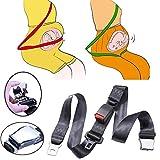 Cinturón de Seguridad para Embarazadas en Coche, Adaptador Cinturón Ajustable para Mujer, Protección para la Madre y para el Bebé, de Anyan- Negro