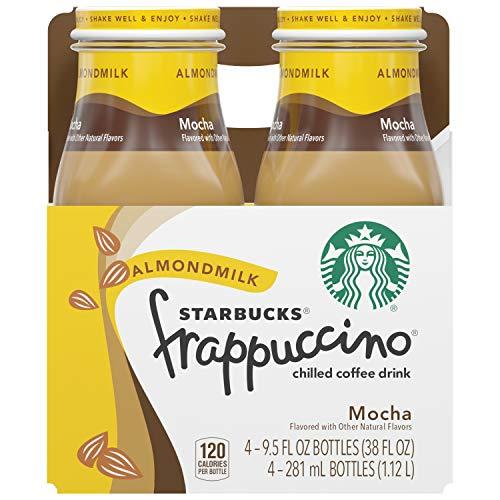 Starbucks Almondmilk Frappuccino, Mocha, 9.5oz Bottles (4 Pack)
