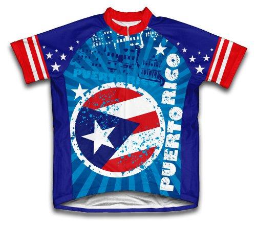 ScudoPro Puerto Rico Maillot Cycliste à Manches Courtes pour Hommes -