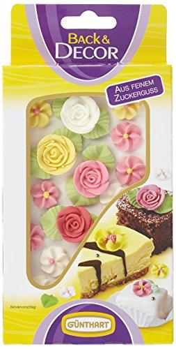 Günthart Zucker-Rosen, bunt mit Blumen, 5er Pack (5 x 23 g)