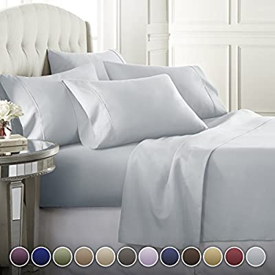 Danjor Linens 6 Piece Hotel Luxury Soft 1800 Series Premium Bed Sheets Set, Deep Pockets, Hypoallergenic, Wrinkle & Fade Resistant Bedding Set Colors