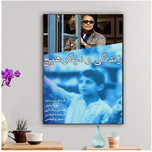 FACAIA Pôster decorativo de parede and Nothing More Life Goes on Abbas Kiarostami Iran Moive Film Decoração de casa - 50 x 70 cm Sem moldura