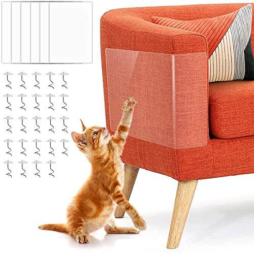 ZXT 6 Piezas Protector de Muebles Gatos,Protectores contra Rayones para Muebles,Protector Sofa Gatos,Gato Protector de Arañazos, Transparente Autoadhesivas contra Arañazos,para Muebles, Sofa, Puertas