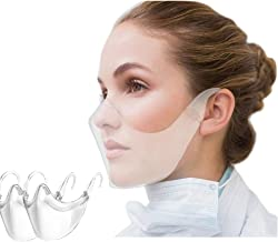 Itopfox 2PCS Protective Shield Anti Fog Dustproof Anti Saliva Face Guard Re-Usable Transparent Mouth Protection For Adults